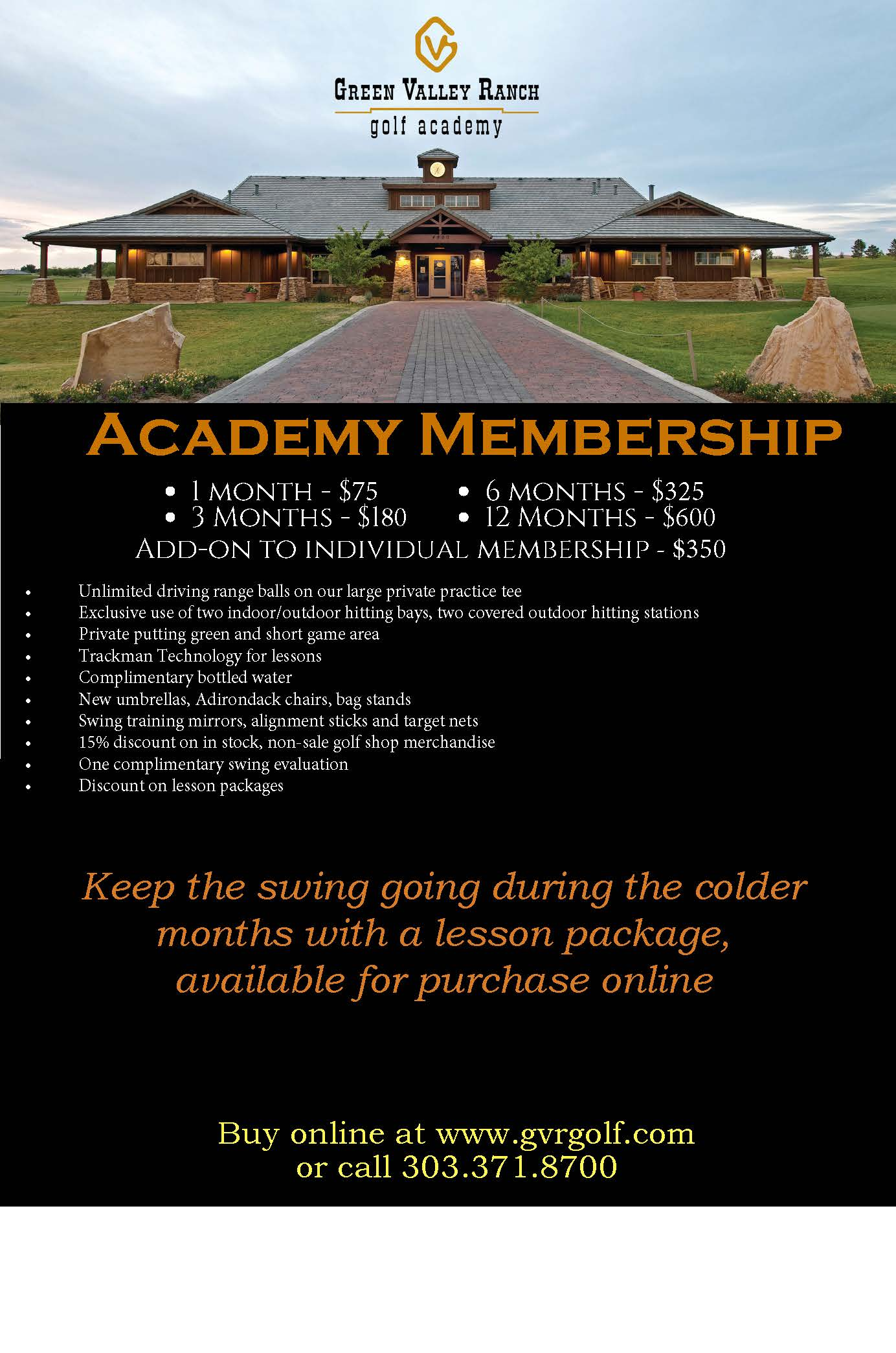 2017.18 Winter academy membership info for online store