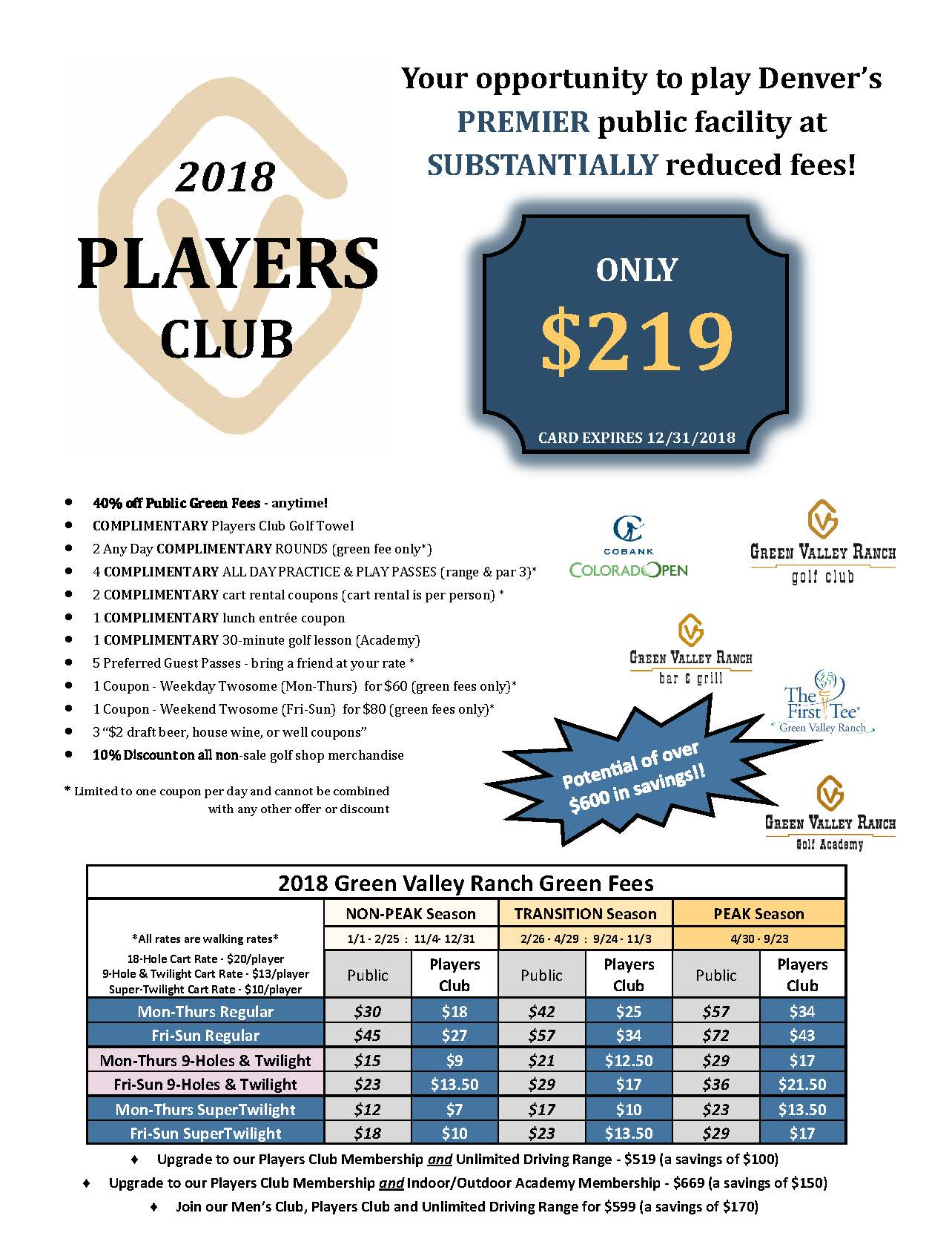 2018 Players Club Final